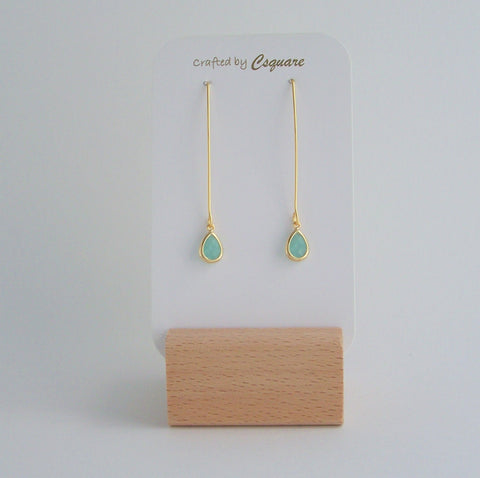 Minimalist Dainty Color Drop Dangling Gold Earrings
