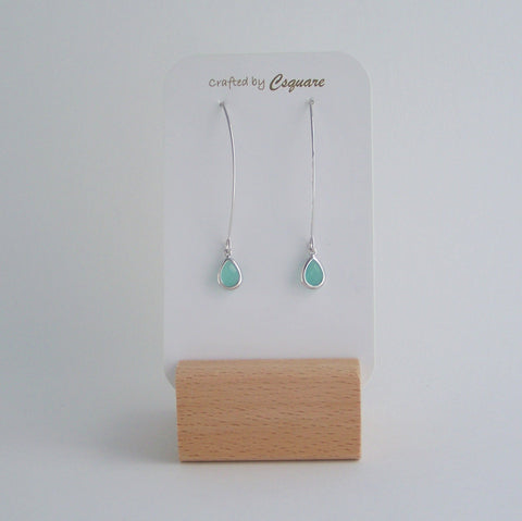 Online Only Offers - Minimalist Dainty Color Drop Dangling Silver Earrings