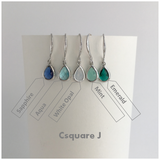Online Only Offers - Dainty Drop Color Silver Earrings - New Colors