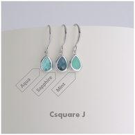 Dainty Drop Color Silver Earrings