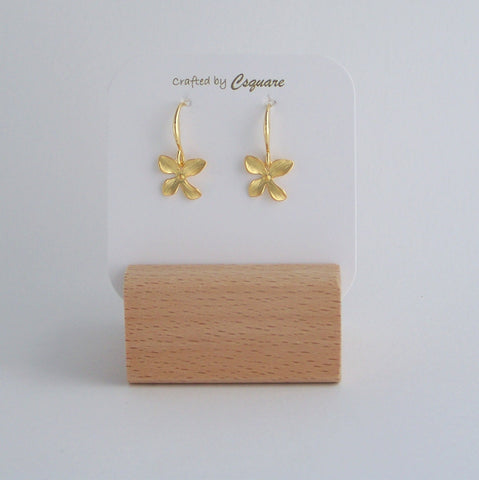 Dainty Orchid Gold/ Silver Earrings