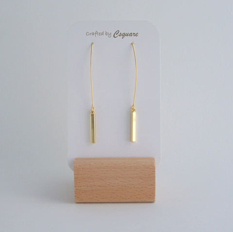 Minimalist Geometric Stick Dangling Gold/ Silver Earrings