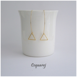 Dainty Geometric Triangle Gold/ Silver Earrings