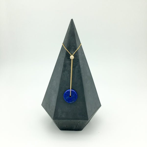 14K Gold Filled Necklace - Gemstone Lapis Lazul Eternity necklace - Online Only Offers