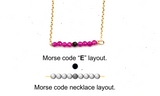 "Bespoke Morse Code Letter Initial Necklace - Length 16"" (406mm) - 14K Gold Filled"