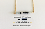"Bespoke Morse Code Letter Initial Necklace - Length 17"" (431mm) - 14K Gold Filled"
