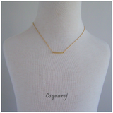 Dainty Curve Tube Gold Necklace