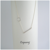 Dainty Geometric Hexagon Bar Gold/ Silver Necklace