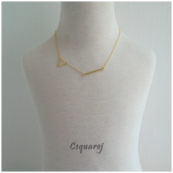 Dainty Geometric Gold Necklace