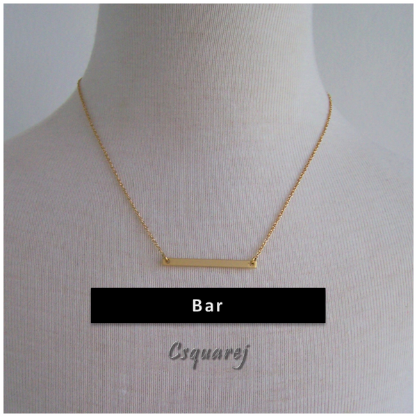 Dainty Flatbar Gold Necklace - Matte finishing