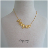 Exquisite Gold/ Silver Flowers Necklace