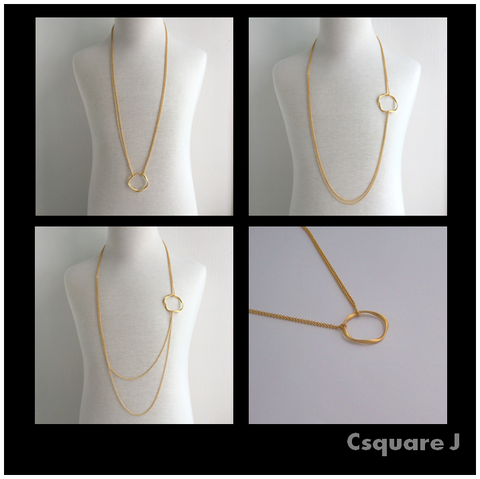Timeless Large Gold/ Silver Ring Necklace - Long Necklace