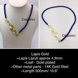 Online Only Offers - Asymmetric necklace, Statement necklace, Long necklace - Lapis Lazuli