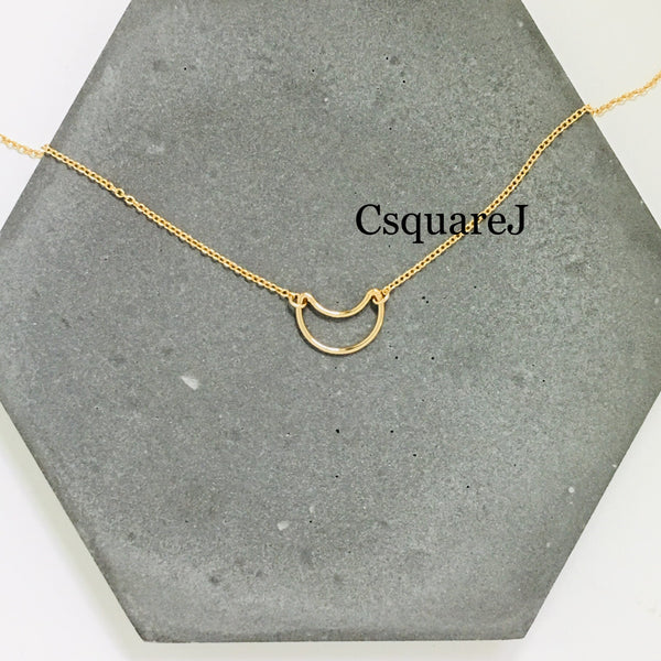 Online only offer - 14K Gold filled Minimalist necklace - Moon, Crescent necklace
