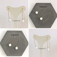 14k Gold filled, 14K Rose-Gold filled & Sterling Silver - Howlite Drop earring