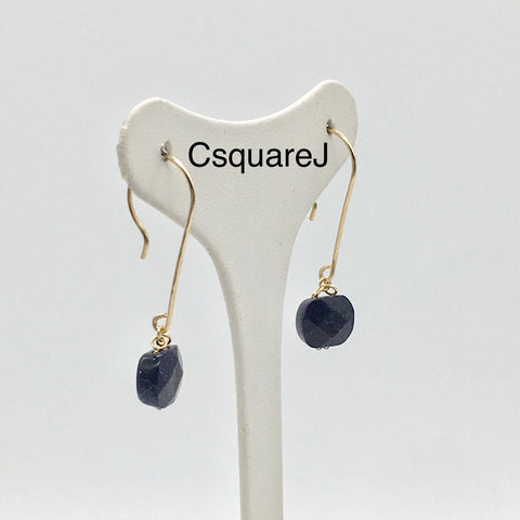 Blue Sandstone dangling earrings