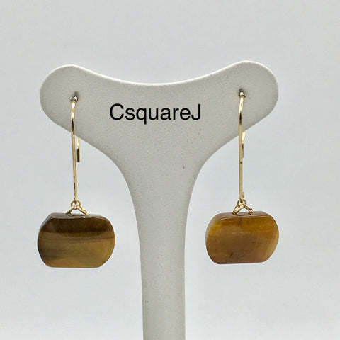 Tiger Eye dangling earrings
