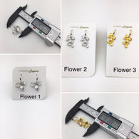 Online Only Offers - Exquisite Flowers Gold/ Silver Earrings
