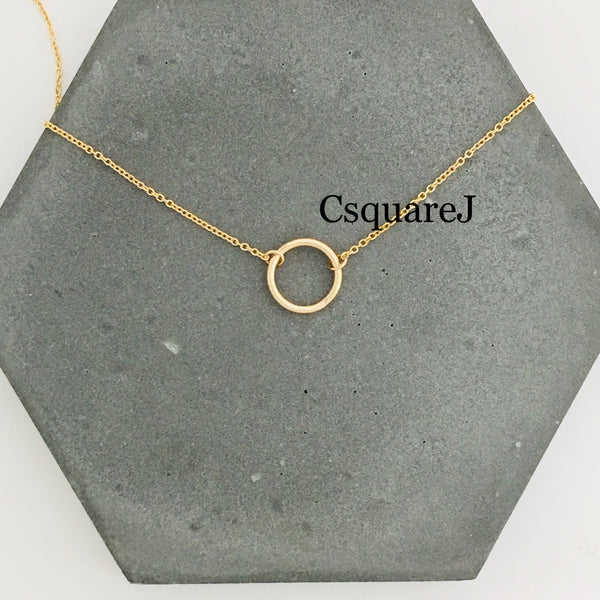 Online only offer - 14K Gold filled Minimalist necklace - Moon, Crescent, Circle, Eternity