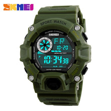 Load image into Gallery viewer, S SHOCK Men Sports Watches SKMEI Luxury Brand Camouflage Military Watches Digital LED Waterproof Wristwatches Relogio Masculino