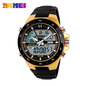 SKMEI Men Sports Watches Male Clock 5ATM Dive Swim Fashion Digital Watch Military Multifunctional Wristwatches relogio masculino