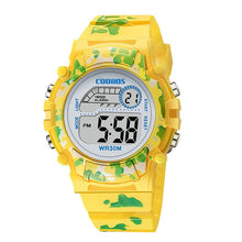 Load image into Gallery viewer, Navy Blue Camouflage Kids Watches LED Colorful Flash Digital Waterproof Clock For Boys Girls Date Week Creative Children's Watch