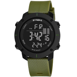 SYNOKE Men Watch Multi-Function 50M Waterproof LED Double Action Sports Watches Digital Watch 2019 Relogio Sport Masculino