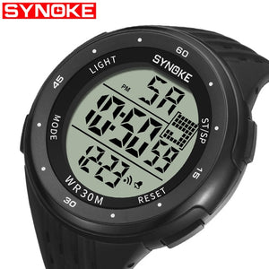 SYNOKE Men Sports Watch Digital Date Classic Outdoor  Army Males Clock Large Dial Waterproof Digital Watches Relogio Masculino
