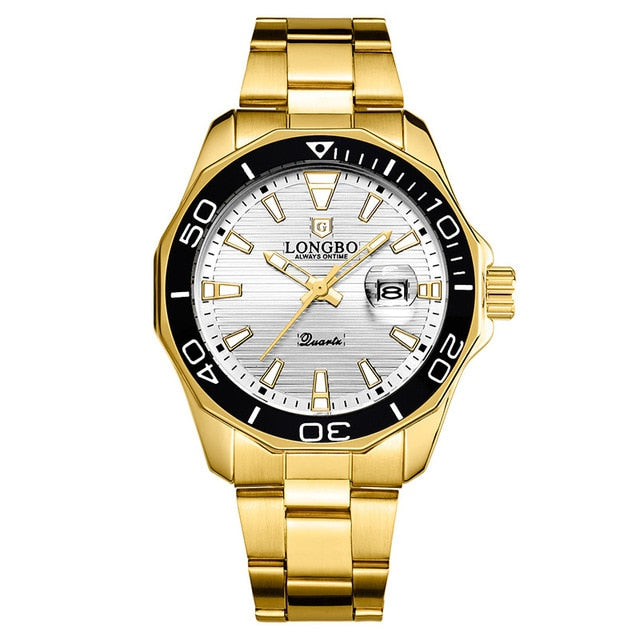 LONGBO Quartz Watches Men Popular Brand Sports Wristwatches Business Stainless Steel Waterproof Clock Relogio Masculino