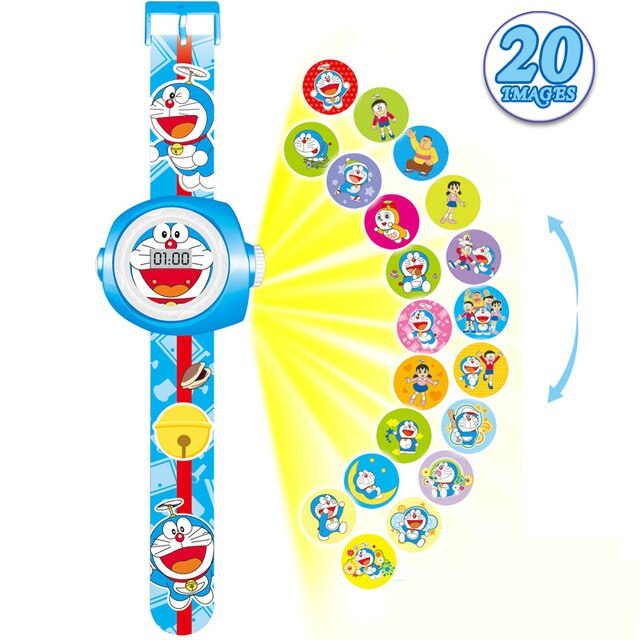 3D Projection Minnie Unicorn Kids Watches Children Toy LED Digital Kid Boys Girls Clock Watches Spiderman Child Watch