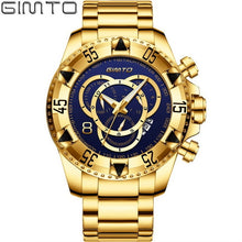 Load image into Gallery viewer, 2018 Top Brand Luxury Men Watches Gold Business Steel Clock Quartz Waterproof Sport Military Male Wristwatch Relogio Masculino