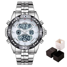 Load image into Gallery viewer, Stryve 8011 Relojes Brand Waterproof Military Sport Watches Men Stainless Steel Digital Quartz Dual Display Watch montre homme