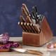 Set de 10 cuchillos Precision Cut Walnut Chicago Cutlery