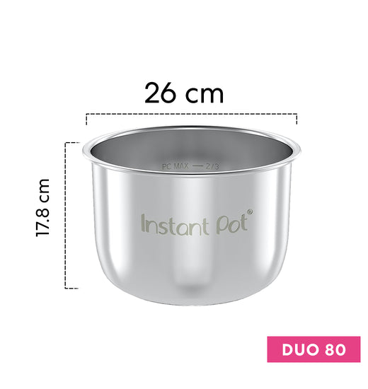 Olla interior de acero inoxidable Instant Pot Duo 80