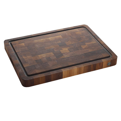 "18"" X 24"" Butcher Block End Grain W/ Drip Ring"