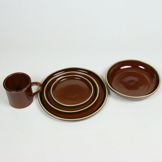 BROOKLINE Copper Clay Dinner Set for Four