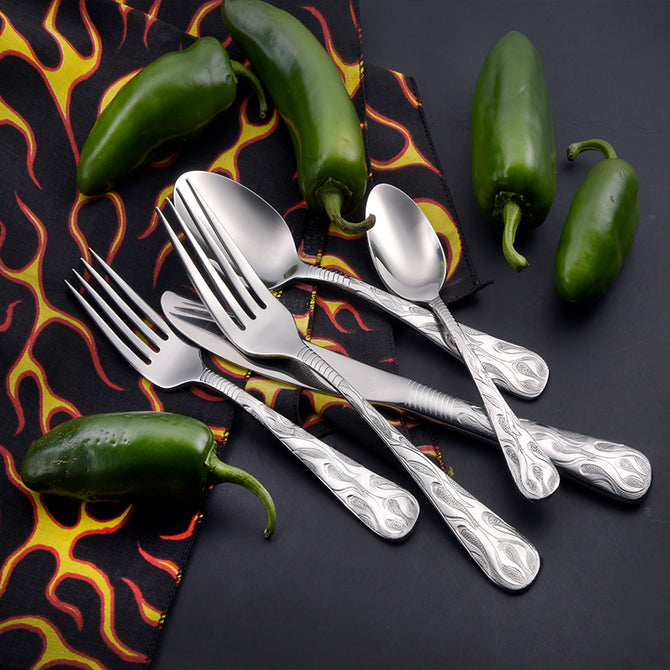 Flame 5pc place setting (SMI collection)