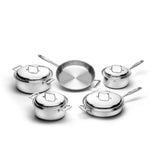 9 Piece Stainless Steel Cookware Set