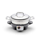 2.3 Quart Stainless Steel Gourmet Slow Cooker Casserole with Cover