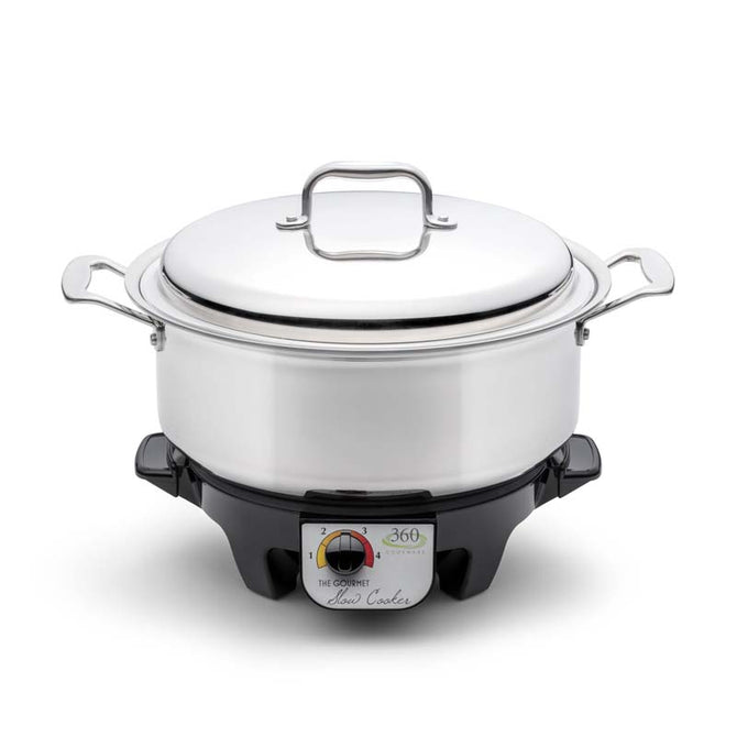 6 Quart Stainless Steel Stock Pot with Cover / Slow Cooker