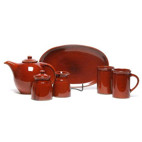 Copper Clay Tea Set