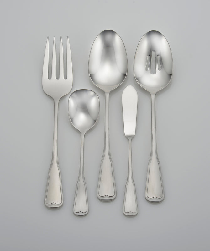 Satin Richmond serving set (SMI collection)