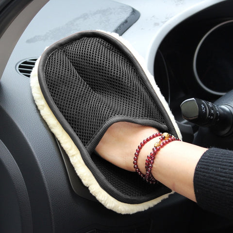 Car Styling Wool Soft Car Washing Gloves