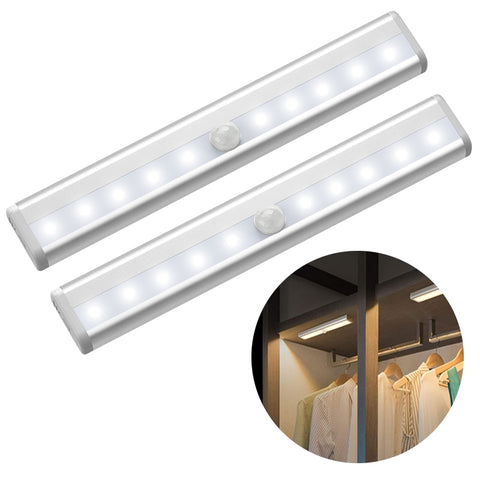 6/10 LEDs PIR LED Motion Sensor Light Cupboard