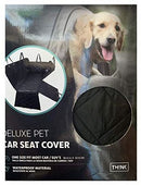Think Design Deluxe Pet Car Seat Cover, Black