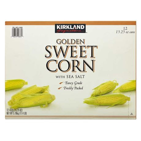Kirkland Signature Golden Sweet Corn, 15.25 oz, 12-count