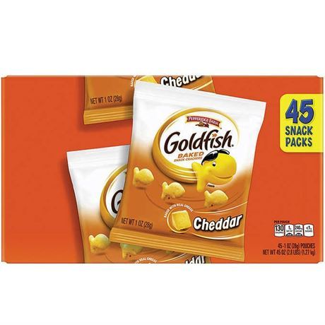 Pepperidge Farm Goldfish Crackers, Cheddar, 1 oz, 45-count