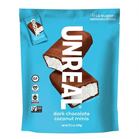 Unreal Dark Chocolate Coconut Mini Bars 15.34 OZ