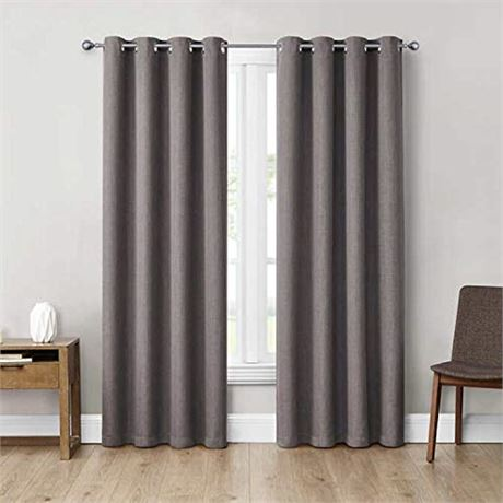 "Eclipse 52"" x 84"" Absolute Zero Curtains, 2-Pack (Max Grey)"