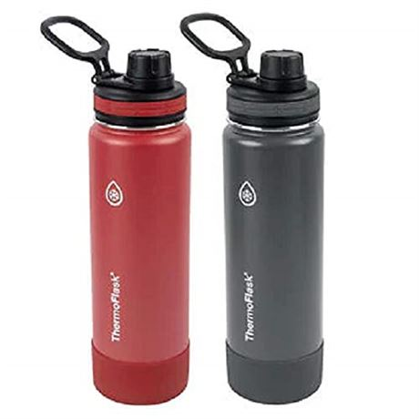 Thermoflask Leak Proof Wide Mouth Easy Carry Loop Spout Lid 24oz